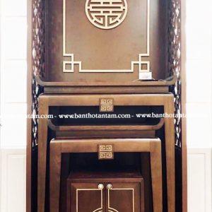 tủ thờ gỗ sồi