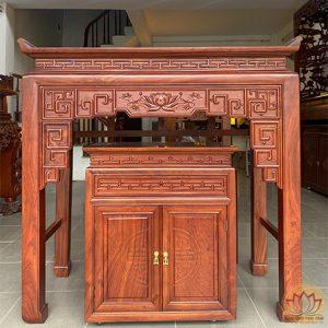bàn thờ chung cư gỗ hương đá